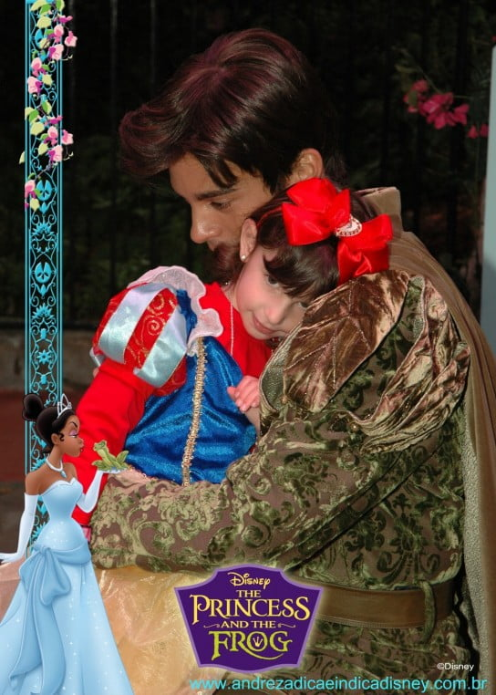 Menina com Príncipe Naveen, Disney